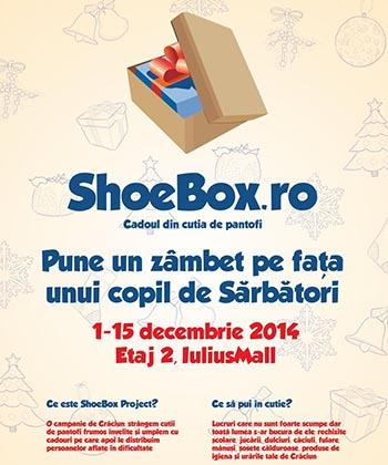 Iulius Mall susține campania Shoebox – cadoul din cutia de pantofi, prin care 100.000 de copii vor primi gratuit cadouri de CrăciunI