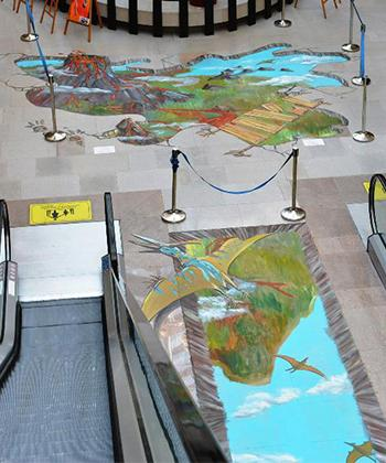 Două desene 3D de mari dimensiuni pot fi admirate la Iulius Mall Suceava