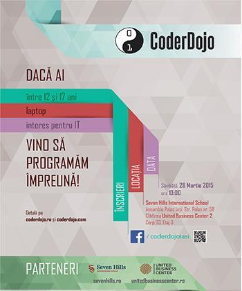 """United Business Center Palas susţine atelierele de programare IT gratuite pentru tineri """"CoderDojo"""""""