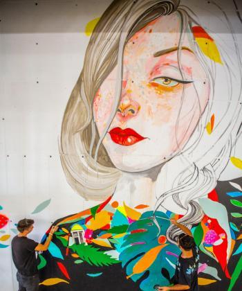 Tunelul auto din ansamblul Iulius Town devine galerie de artă stradală de dimensiuni impresionante, cu ocazia unui inedit eveniment de graffiti
