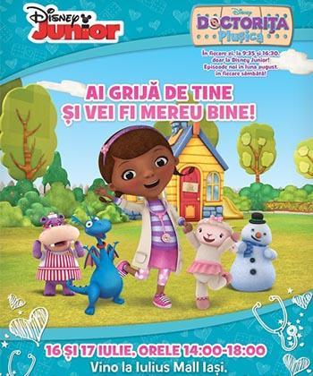 Eveniment Disney pentru copii despre activitățile preferate ale doctoriței Plușica, în week-end, la Iulius Mall Iași